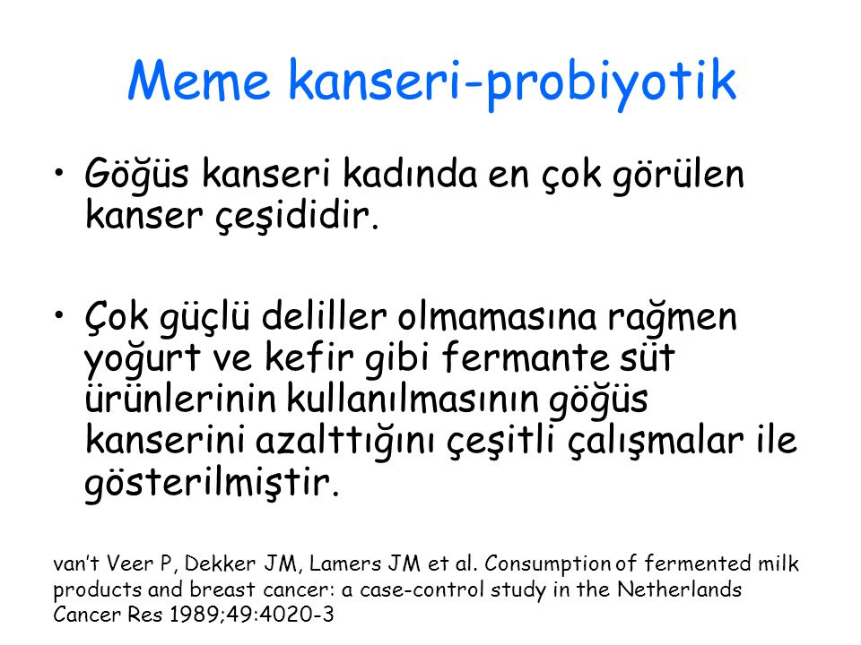 Meme kanseri-probiyotik