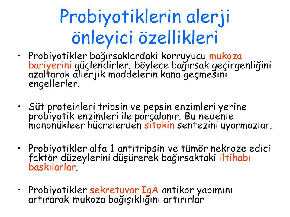 Probiyotiklerin alerji önleyici özellikleri