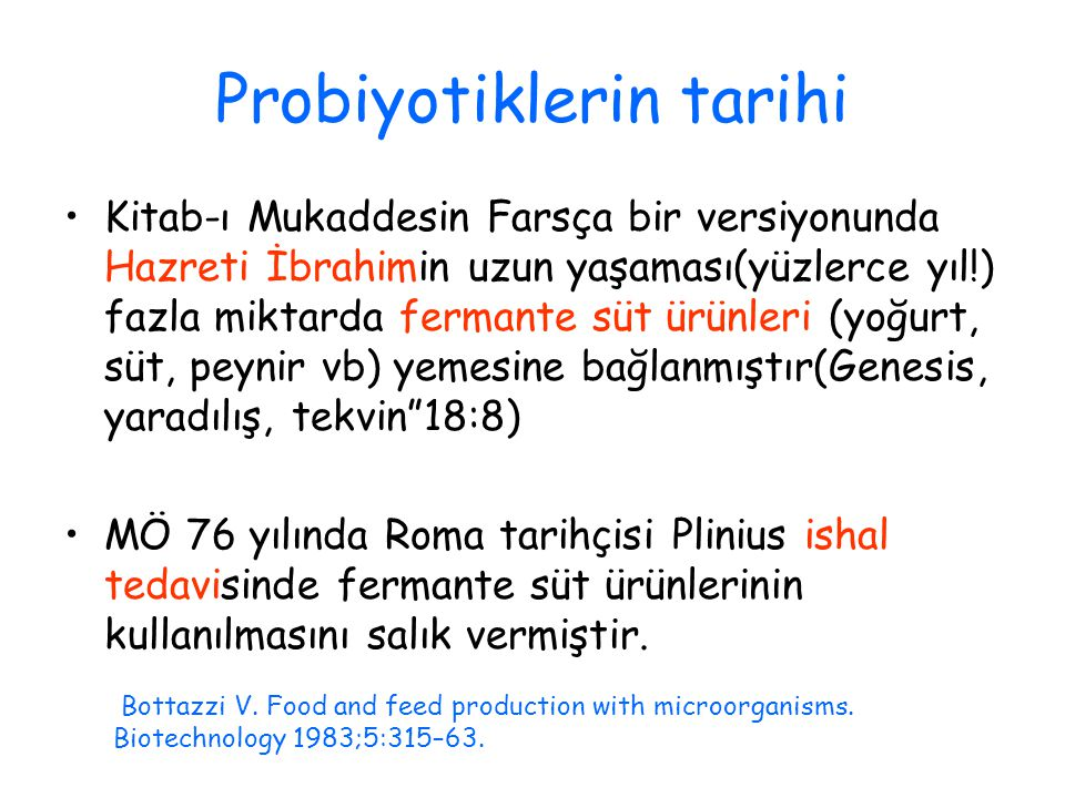 Probiyotiklerin tarihi