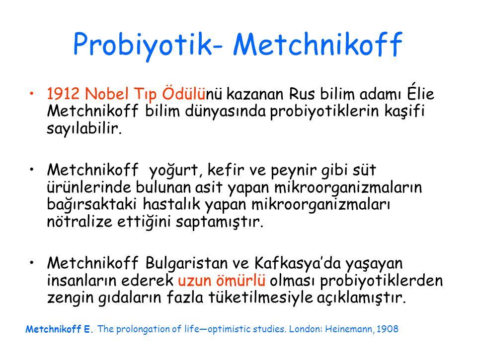Probiyotik- Metchnikoff