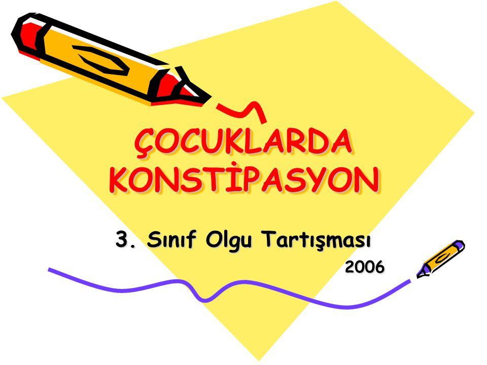 ÇOCUKLARDA KONSTİPASYON
