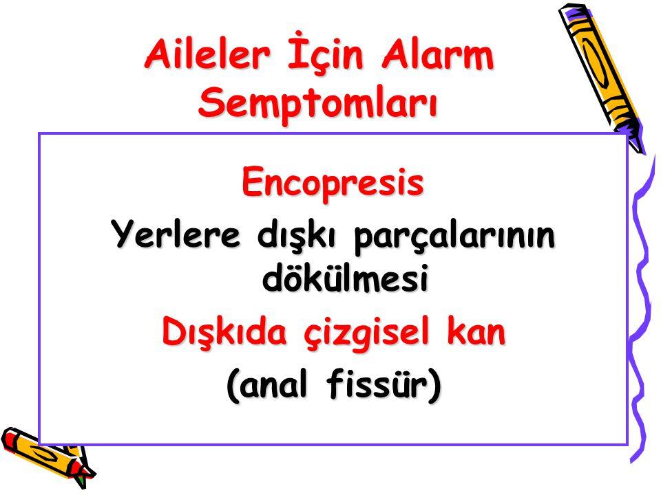 Aileler İçin Alarm Semptomları