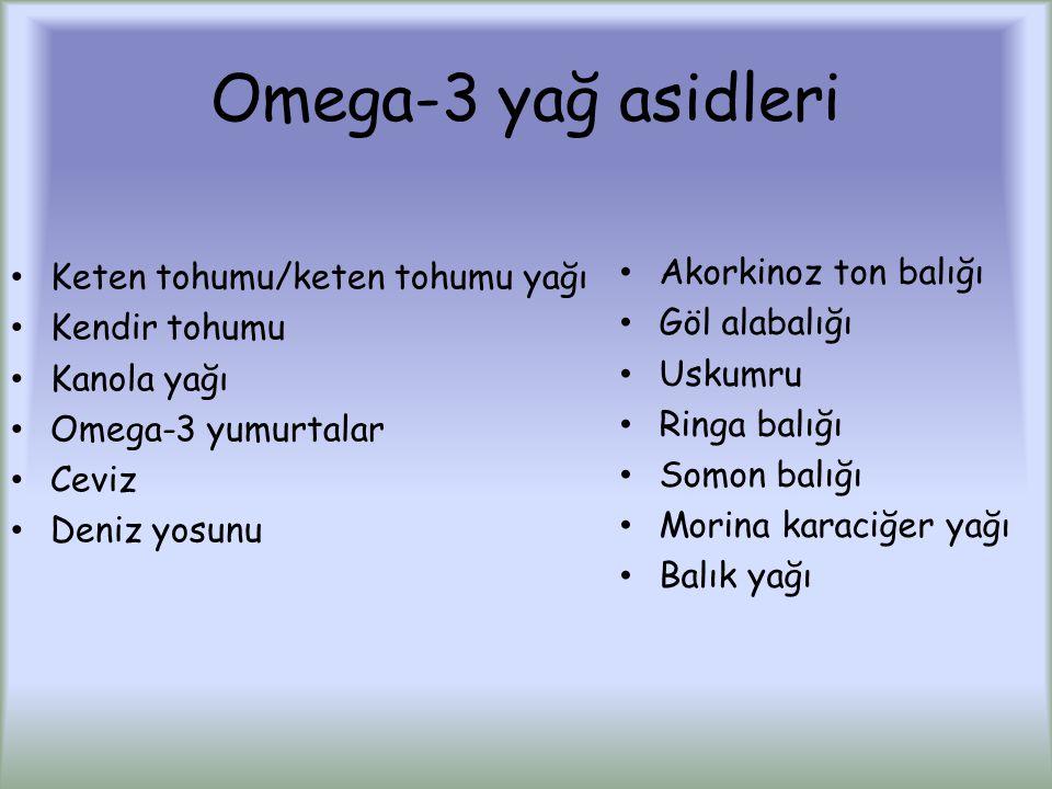Omega-3 yağ asidleri Akorkinoz ton balığı