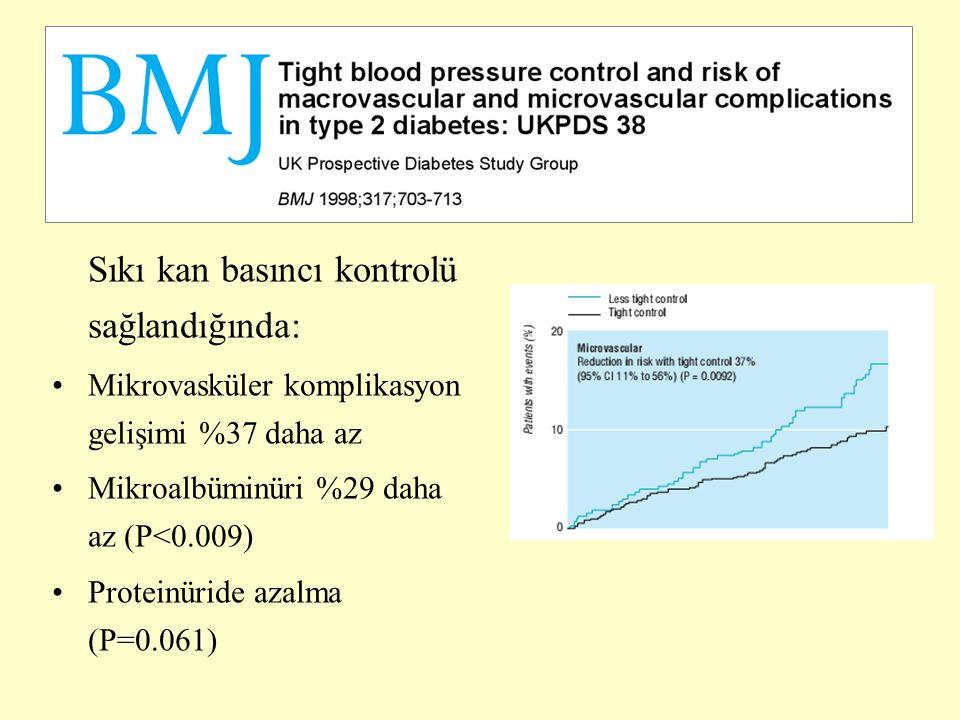Sıkı kan basıncı kontrolü sağlandığında: