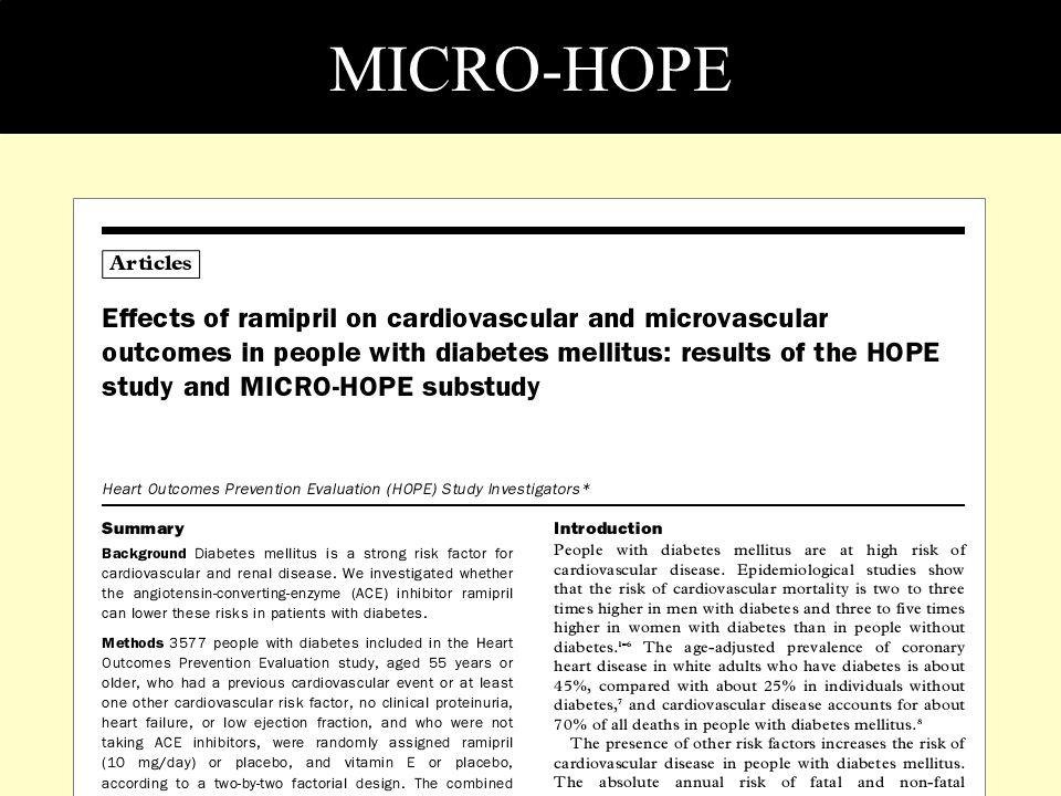 MICRO-HOPE HOPE çalışmasının alt grubu MICRO-HOPE'da