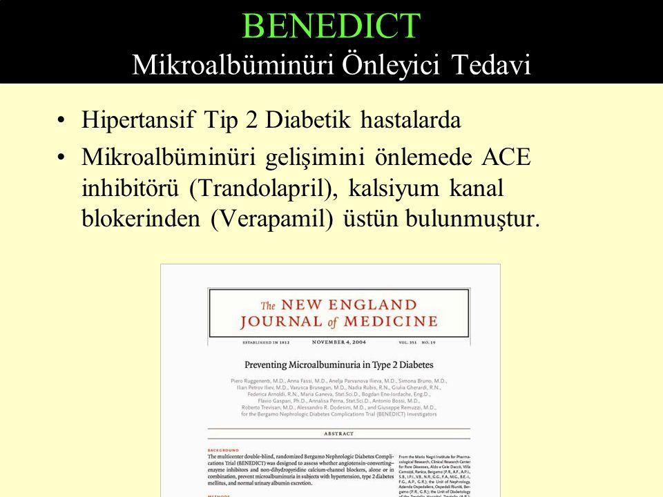 BENEDICT Mikroalbüminüri Önleyici Tedavi
