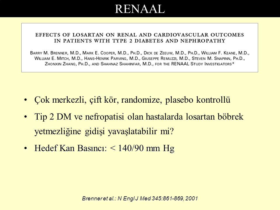RENAAL Çok merkezli, çift kör, randomize, plasebo kontrollü