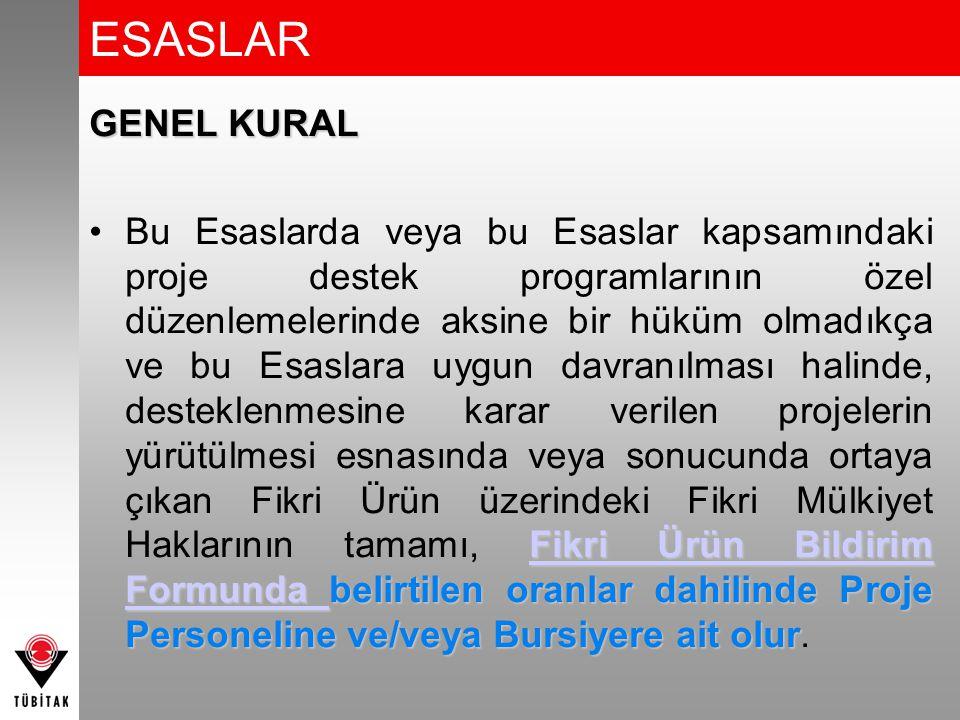 ESASLAR GENEL KURAL.