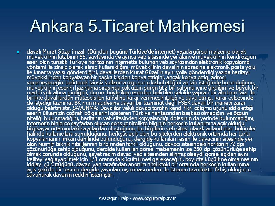 Ankara 5.Ticaret Mahkemesi
