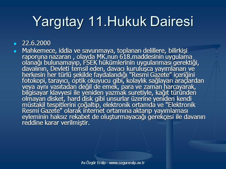 Yargıtay 11.Hukuk Dairesi