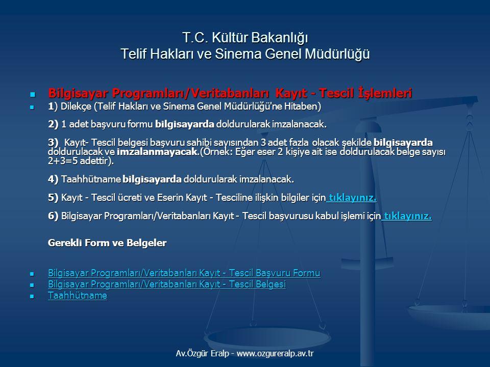 T.C. Kültür Bakanlığı Telif Hakları ve Sinema Genel Müdürlüğü