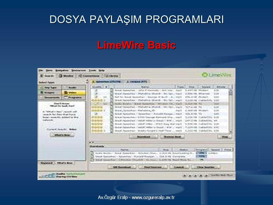 DOSYA PAYLAŞIM PROGRAMLARI LimeWire Basic
