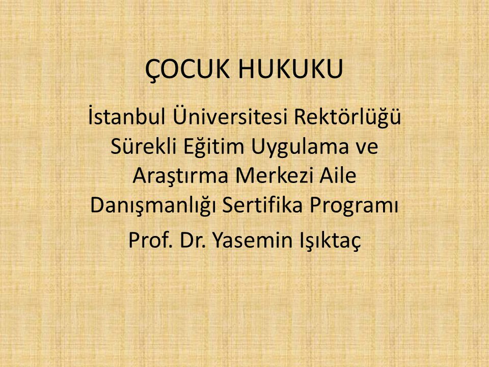 Prof. Dr. Yasemin Işıktaç