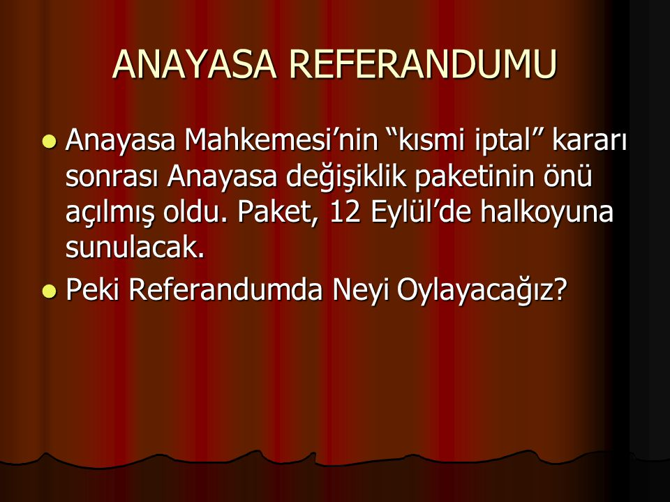 ANAYASA REFERANDUMU