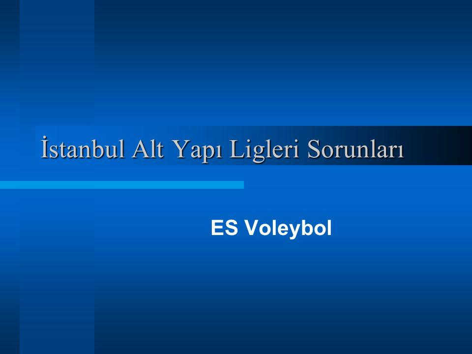 İstanbul Alt Yapı Ligleri Sorunları