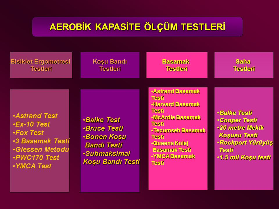 AEROBİK KAPASİTE ÖLÇÜM TESTLERİ
