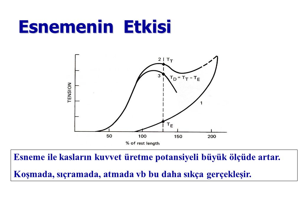 Esnemenin Etkisi Increased force caused by: