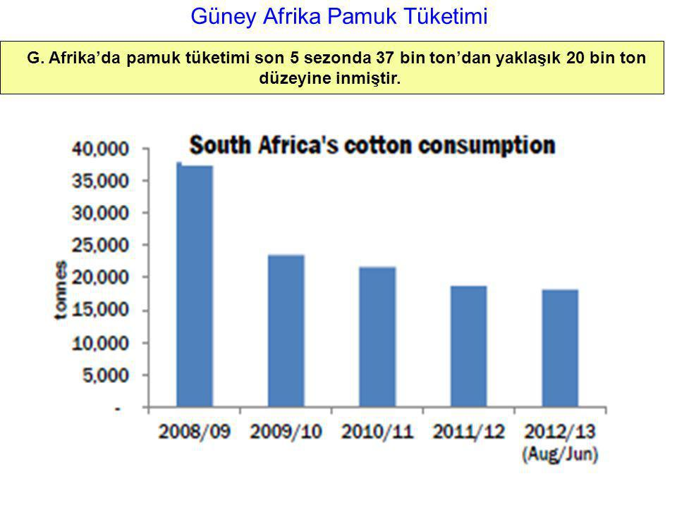 Güney Afrika Pamuk Tüketimi