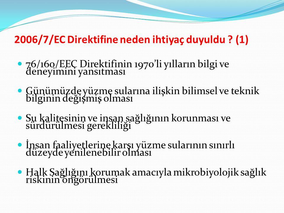 2006/7/EC Direktifine neden ihtiyaç duyuldu (1)