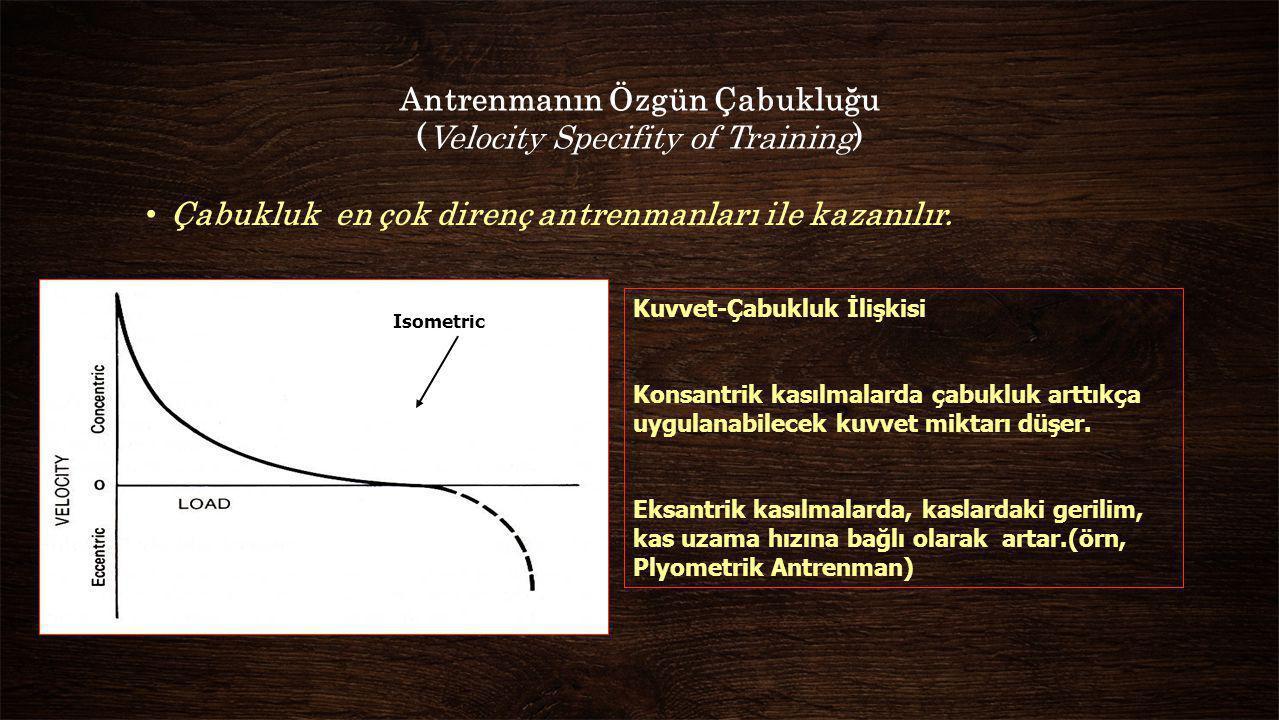 Antrenmanın Özgün Çabukluğu (Velocity Specifity of Training)