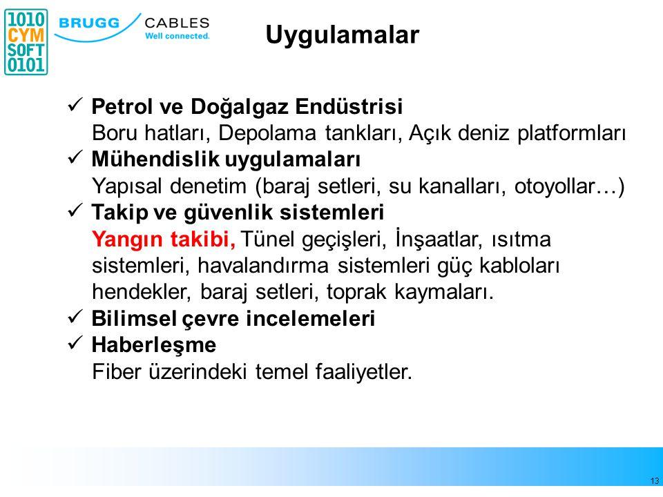 Uygulamalar Petrol ve Doğalgaz Endüstrisi