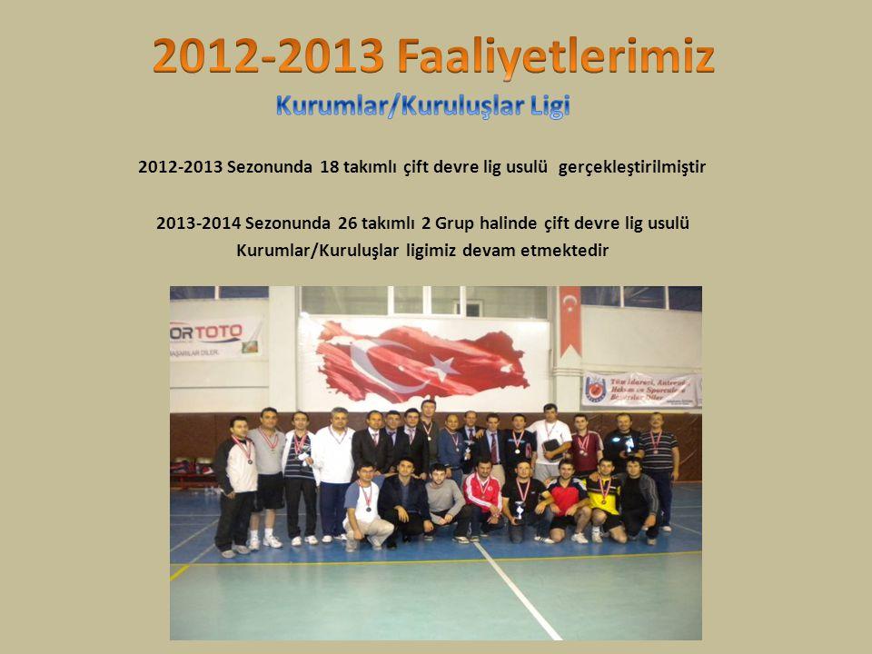 2012-2013 Faaliyetlerimiz Kurumlar/Kuruluşlar Ligi