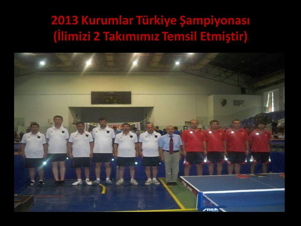 2013 Kurumlar Türkiye Şampiyonası (İlimizi 2 Takımımız Temsil Etmiştir)
