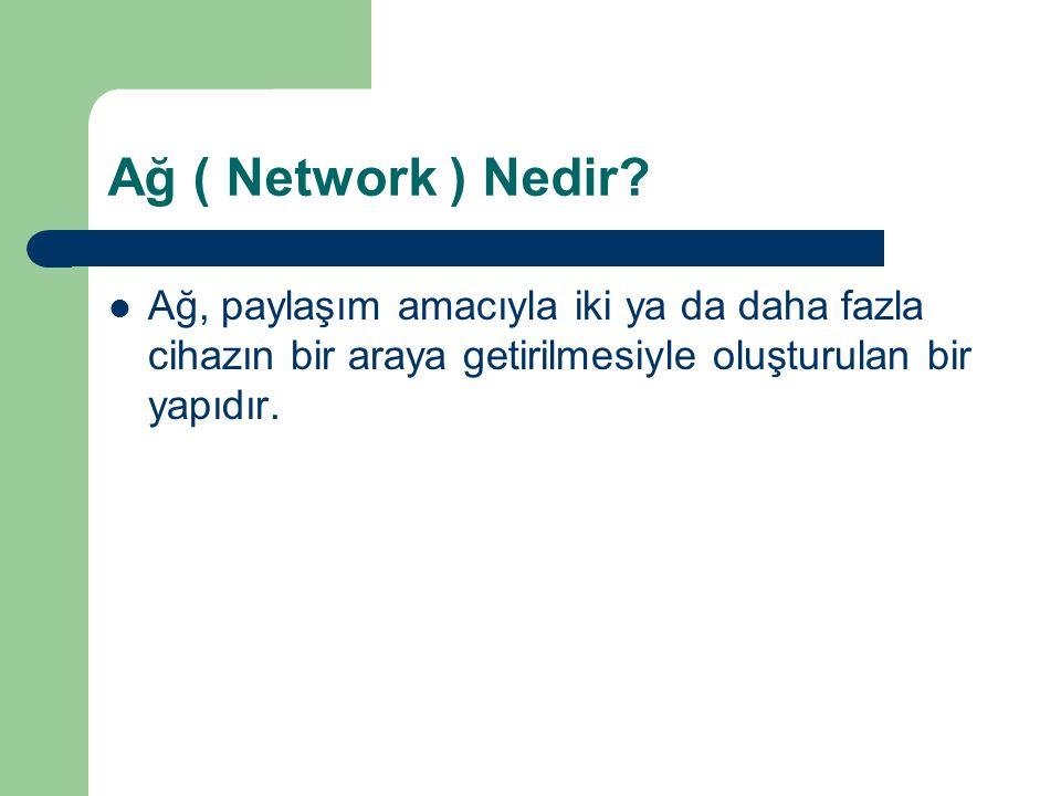 Ağ ( Network ) Nedir.