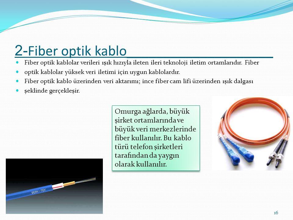 2-Fiber optik kablo____________________
