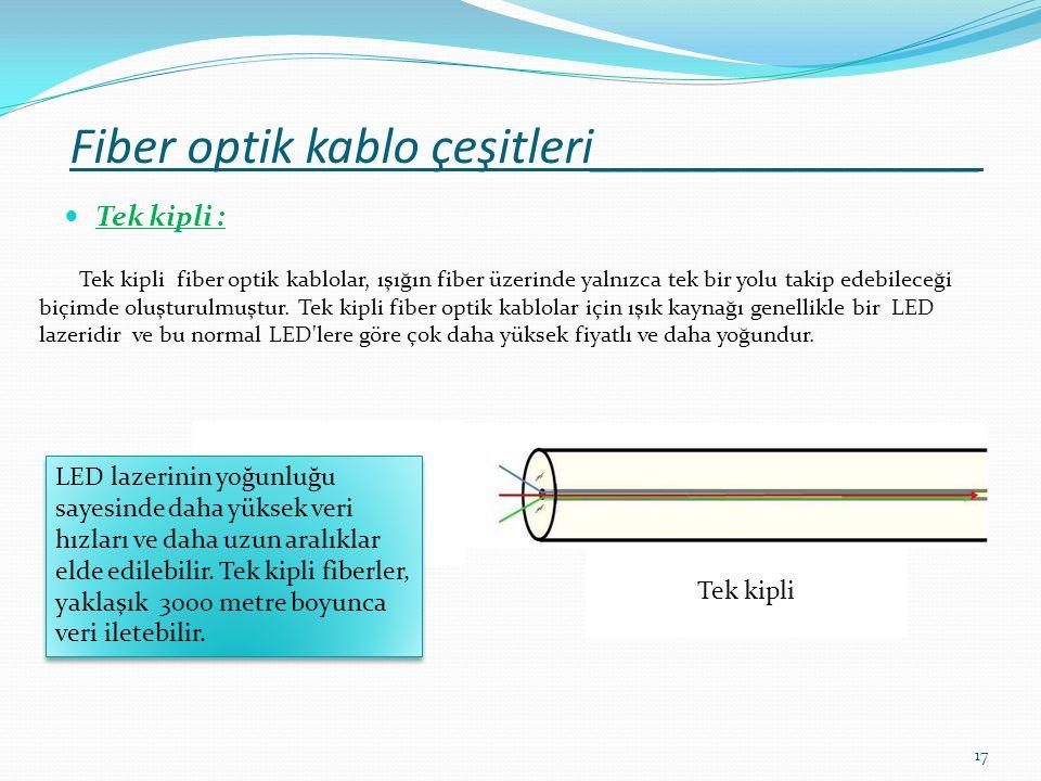Fiber optik kablo çeşitleri_______________