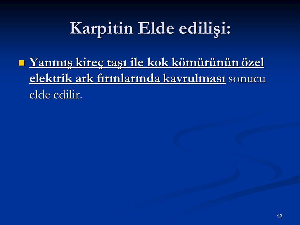 Karpitin Elde edilişi: