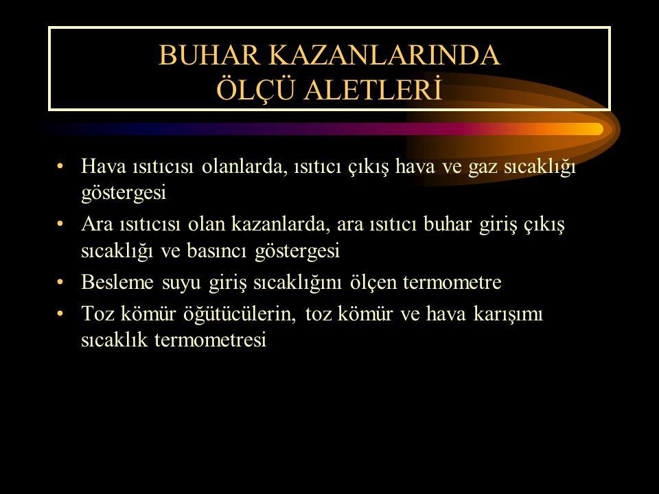 BUHAR KAZANLARINDA ÖLÇÜ ALETLERİ