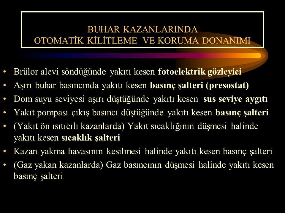 BUHAR KAZANLARINDA OTOMATİK KİLİTLEME VE KORUMA DONANIMI