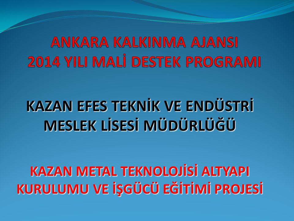 ANKARA KALKINMA AJANSI 2014 YILI MALİ DESTEK PROGRAMI