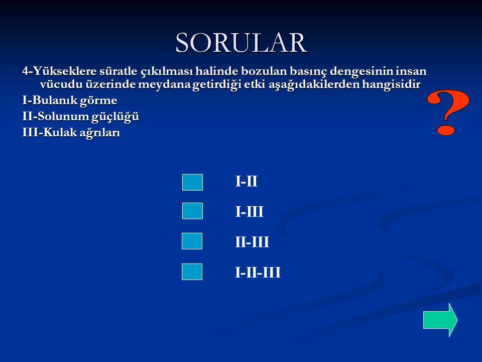 SORULAR I-II I-III II-III I-II-III