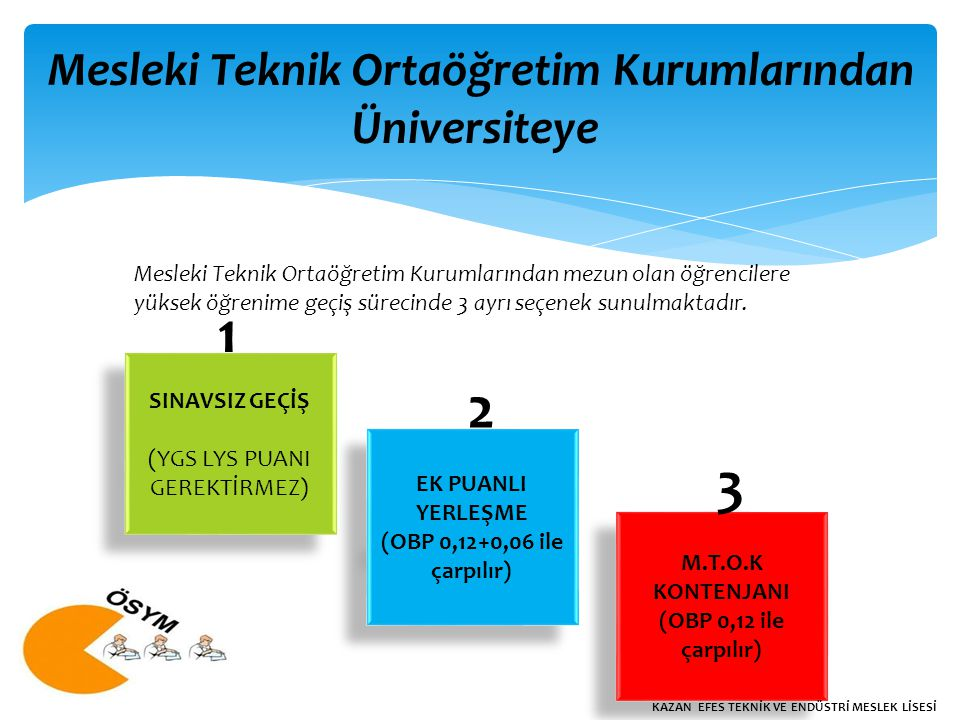 Mesleki Teknik Ortaöğretim Kurumlarından
