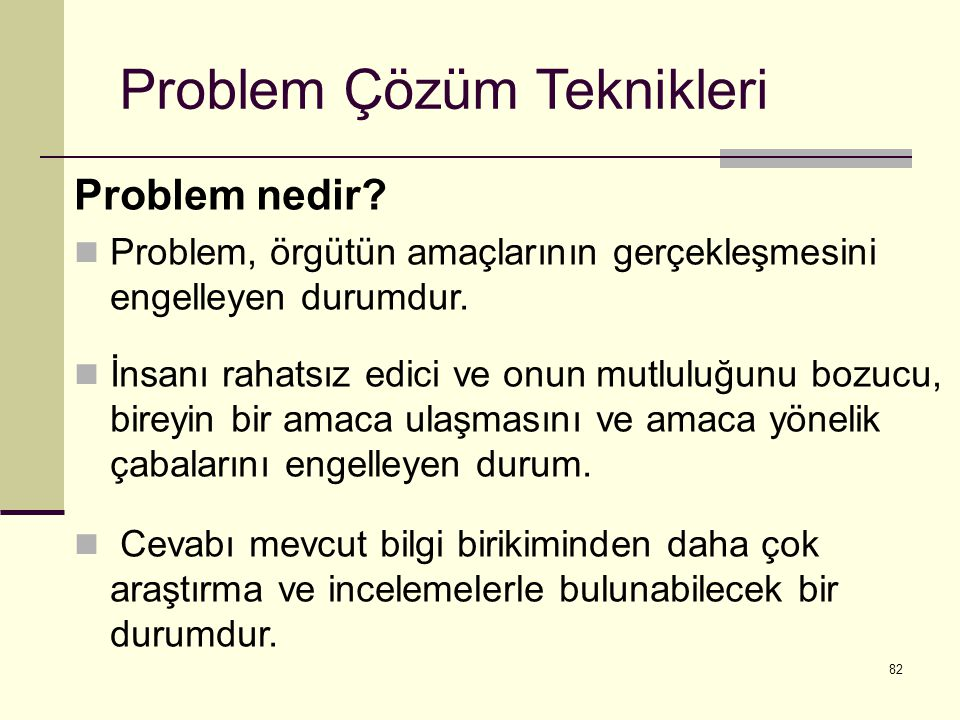 Problem Çözüm Teknikleri