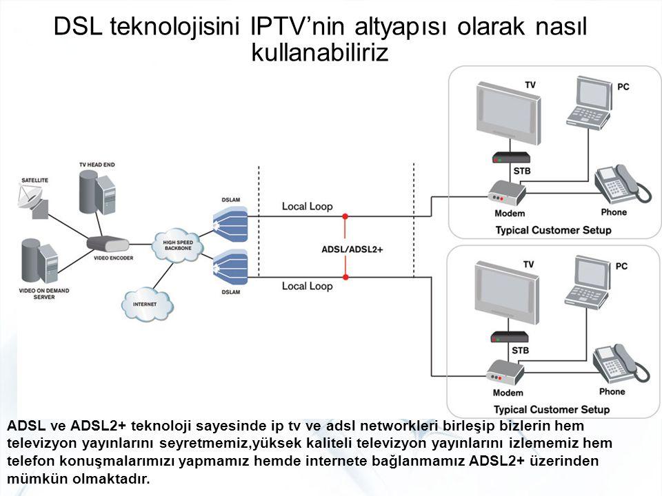DSL teknolojisini IPTV'nin altyapısı olarak nasıl kullanabiliriz