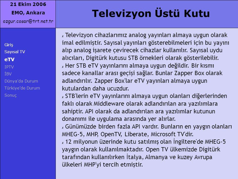 Televizyon Üstü Kutu