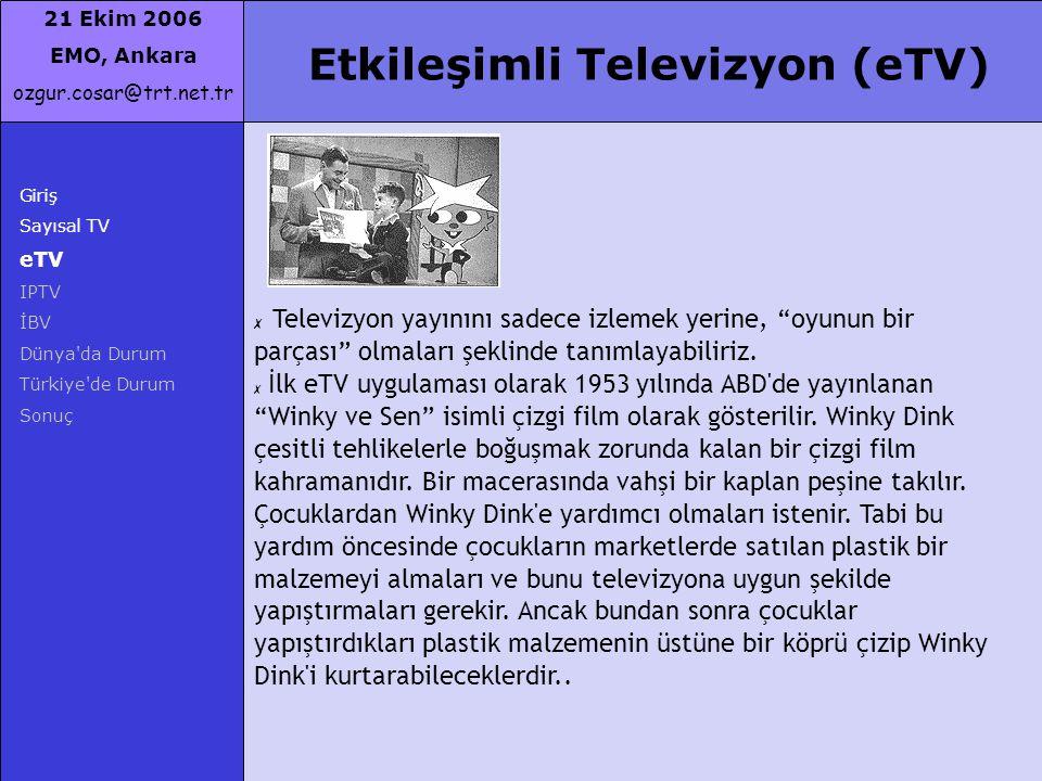 Etkileşimli Televizyon (eTV)