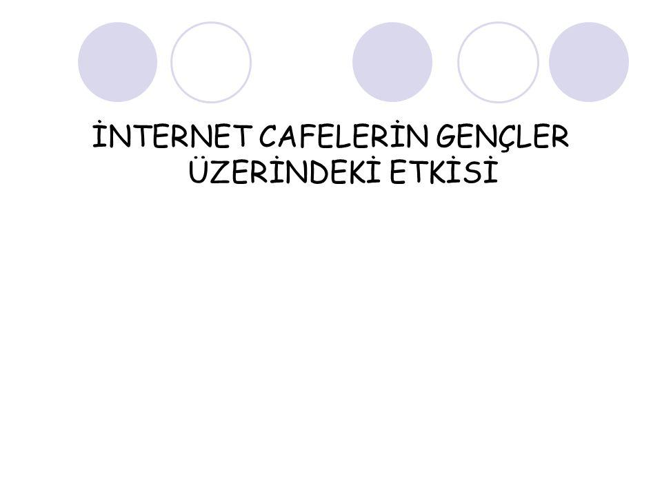 İNTERNET CAFELERİN GENÇLER ÜZERİNDEKİ ETKİSİ
