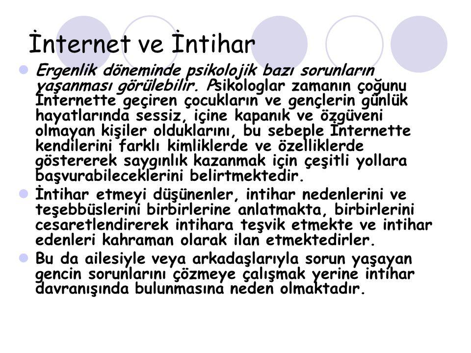 İnternet ve İntihar