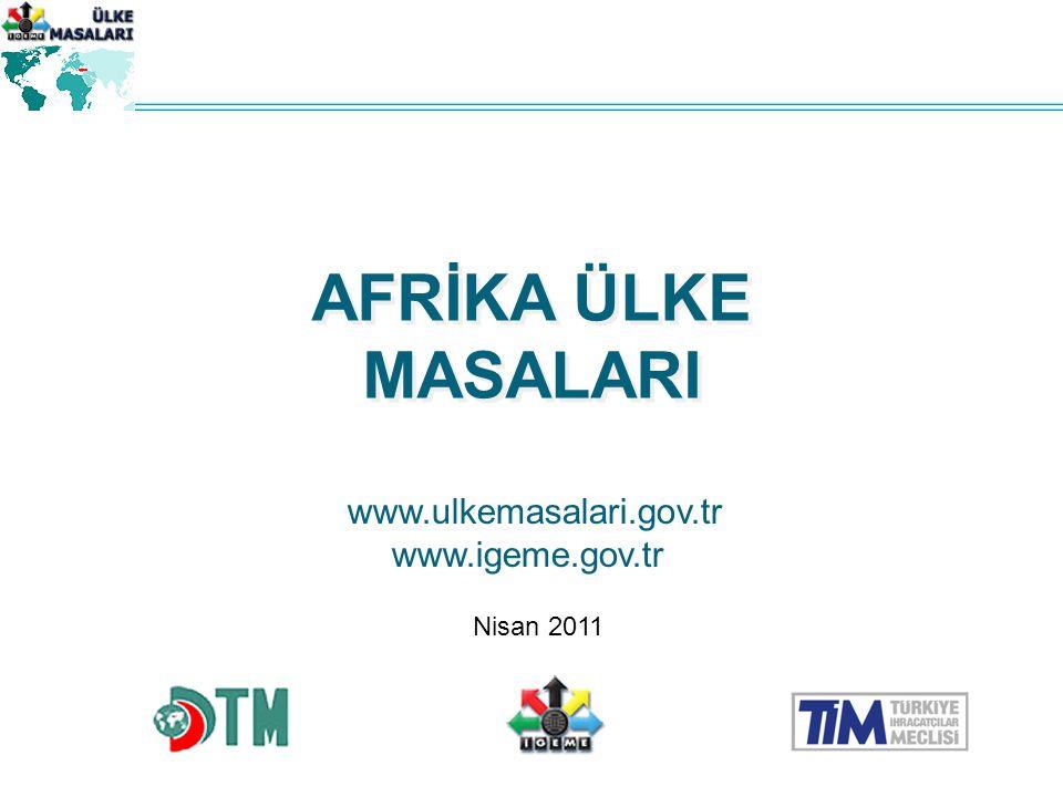 AFRİKA ÜLKE MASALARI www.ulkemasalari.gov.tr www.igeme.gov.tr