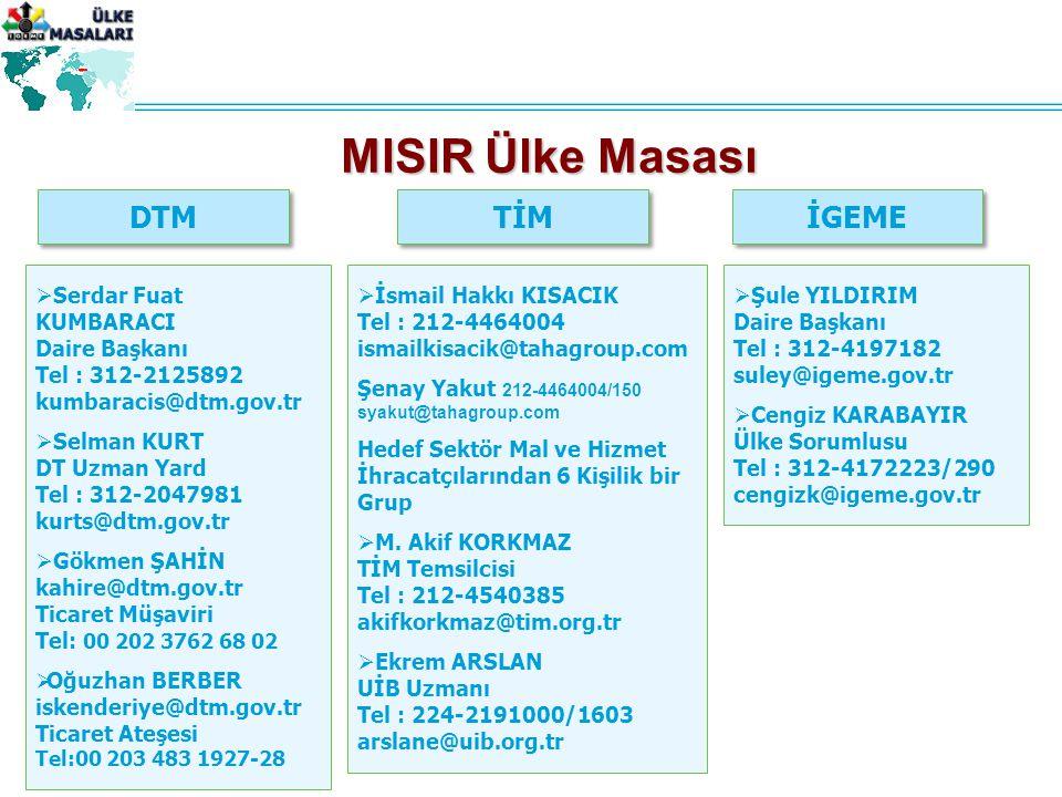 MISIR Ülke Masası DTM TİM İGEME