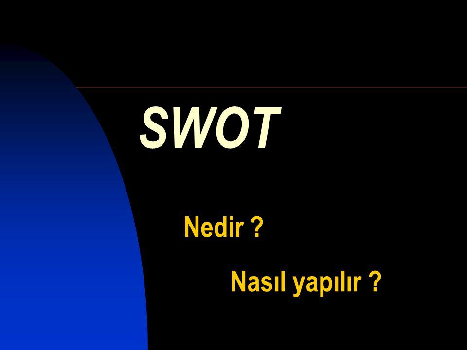 SWOT Nedir Nasıl yapılır