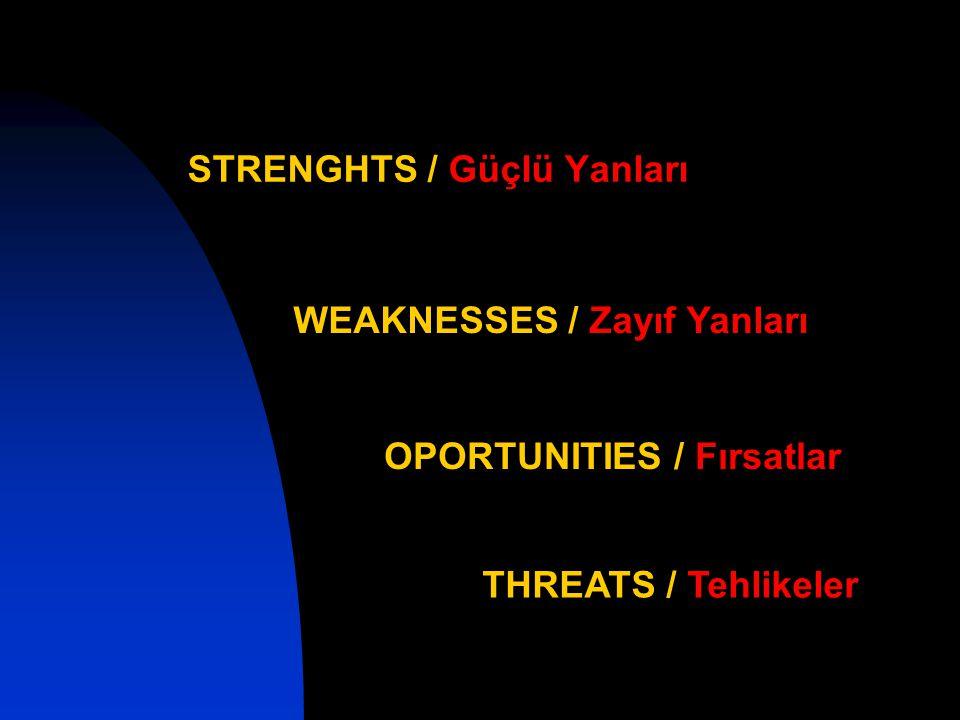 STRENGHTS / Güçlü Yanları
