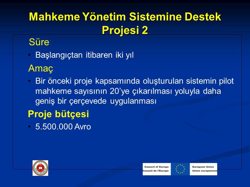 Mahkeme Yönetim Sistemine Destek Projesi 2