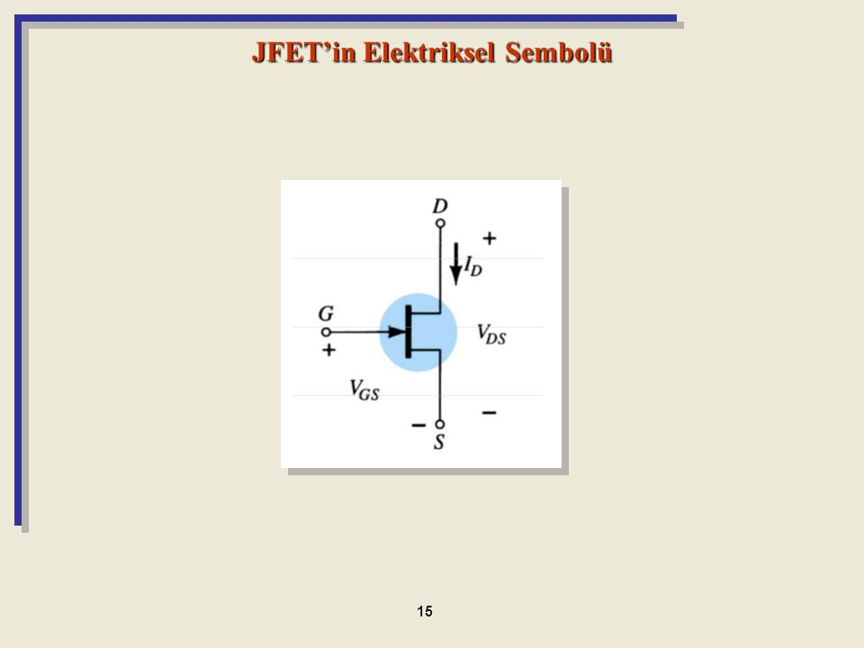 JFET'in Elektriksel Sembolü