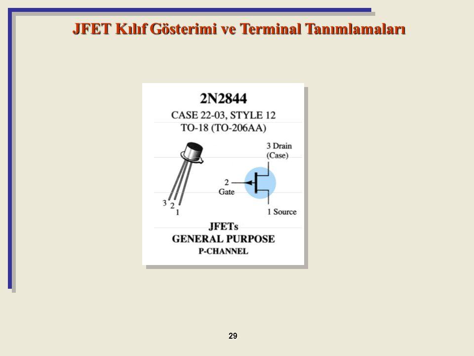 JFET Kılıf Gösterimi ve Terminal Tanımlamaları