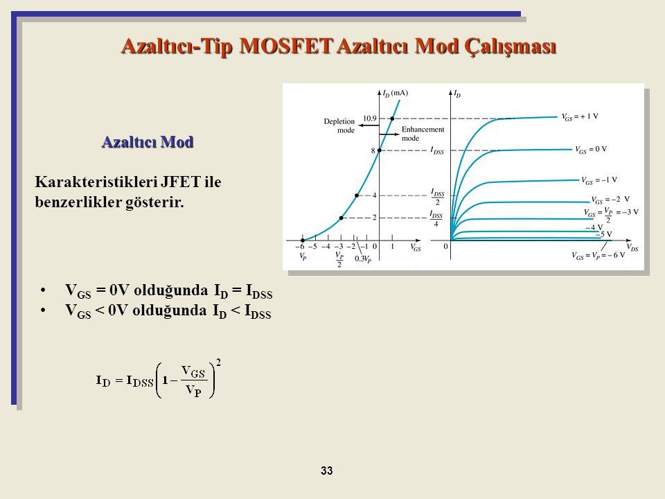 Azaltıcı-Tip MOSFET Azaltıcı Mod Çalışması